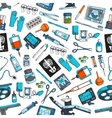 Medical items tools seamless pattern vector image vector image