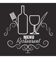 menu restaurent food icon vector image vector image