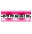 mod valentines day graphic typography and hearts vector image vector image