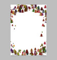 modern random christmas design stationery vector image vector image