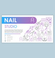 nail studio web banner business card template