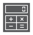 online calculator glyph icon finance and banking vector image vector image