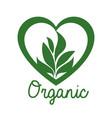 organic product guaranteed seal vector image vector image