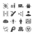 pandemic and outbreak plague icons set vector image vector image