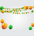 party background with flags vector image vector image
