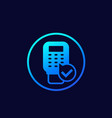 pos terminal payment icon for web vector image vector image