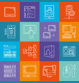 programming and computers lineart minimal iconset vector image vector image