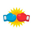 red and blue boxing gloves ready to fight vector image
