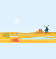 rural summer landscape with a old windmill vector image vector image