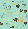 seamless pattern with eyeglasses vector image vector image