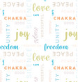 seamless type pattern meditation color vector image vector image