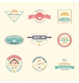set bakery logos vector image