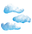 set clouds in style low poly vector image