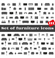 set furniture icons vector image