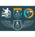 Set of Badges Cricket vector image vector image