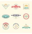 Set of bakery logos vector image