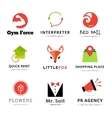 Set of bright modern logos vector image