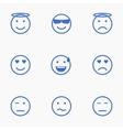 Set of Emoticons Set of Emoji Set of Avatar vector image vector image