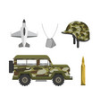 set patriotic militar army forces vector image vector image
