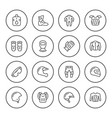 set round line icons of motorcycle equipment vector image vector image