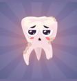set teeth characters cute cartoons vector image