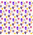 skull day dead seamless pattern vector image vector image