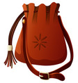 small bag in brown color vector image vector image