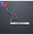 Smoking icon symbol 3D style Trendy modern design vector image vector image
