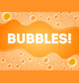 soap bubbles in bath or sud transparent foam on vector image vector image