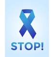 Stop cancer medical poster concept vector image vector image