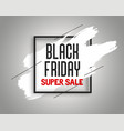 stylish black friday sale banner with ink splash vector image vector image