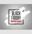 stylish black friday sale banner with ink splash vector image