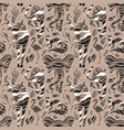 Stylized wild animals hand drawn seamless pattern