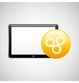 tablet technology icon gear business vector image vector image