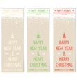 Three retro flyers on old paper for new year vector image vector image