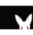 White Rabbit Grid Background vector image vector image