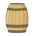 wooden barrel vector image vector image