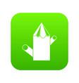 wooden stump icon digital green vector image