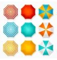 Colorful Sun Umbrella Set vector image