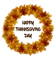 Leaves wreath for Thanksgiving day invitation or vector image