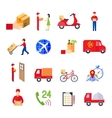 Flat Delivery Icon Set vector image