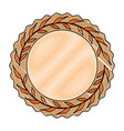 wreath leafs crown icon vector image