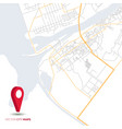 abstract city map with red pointer vector image vector image