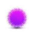 Abstract violet fluffy isolated sphere with shadow vector image vector image