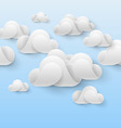 Abstract white clouds vector image vector image
