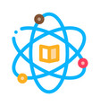 atom chemistry study icon outline vector image