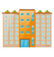 big building with lots of windows vector image vector image