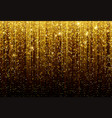 black background with falling golden sparkles vector image vector image