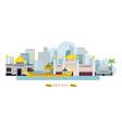 brunei landmarks skyline vector image vector image