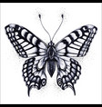butterfly tattoo butterfly vector image